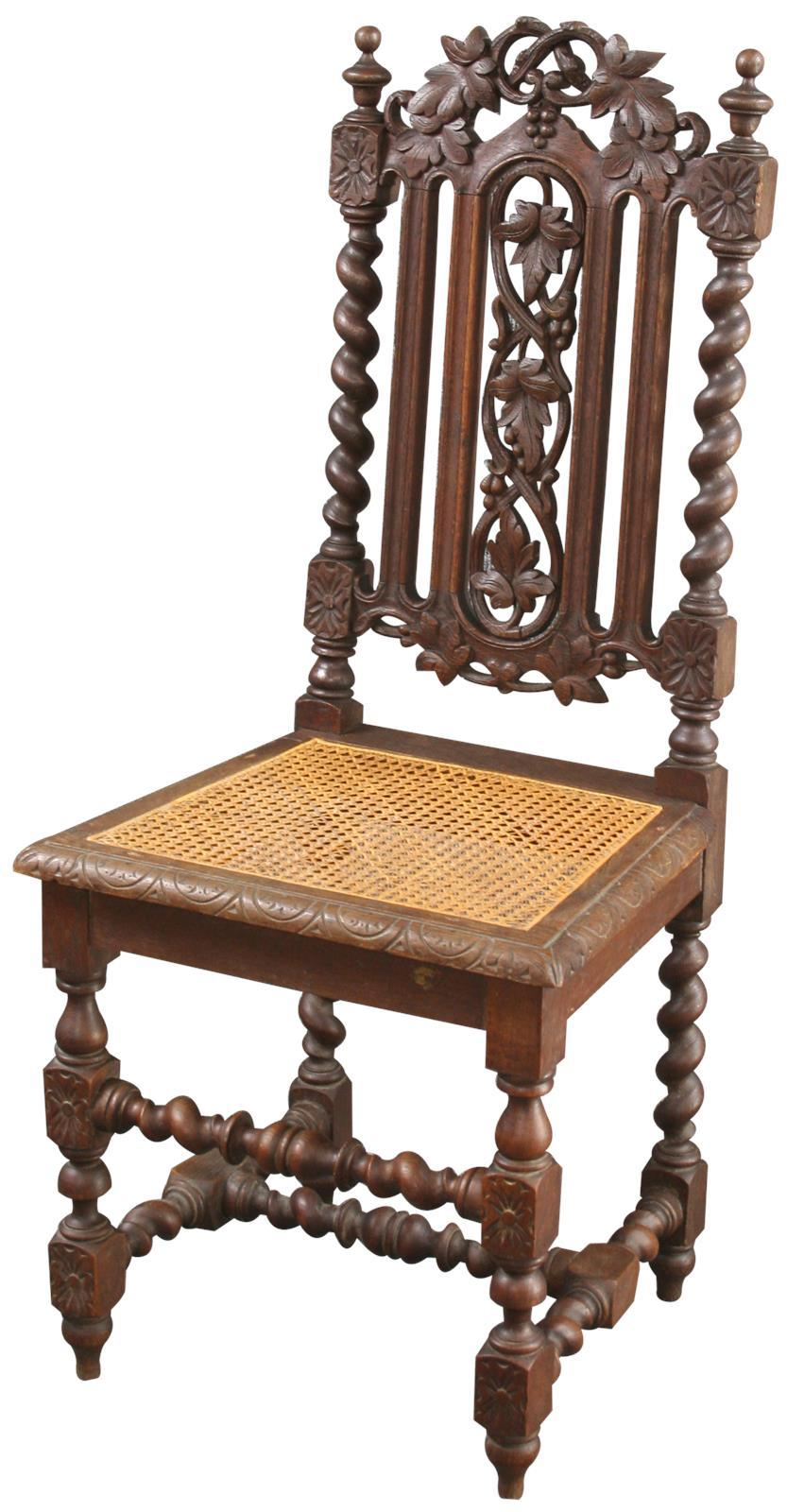 Merveilleux Antique Renaissance Style Hunt Chairs   Set Of 6   Image 2 Of 8