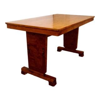 Art Deco Intarsia Bibliotek Dining Table For Sale