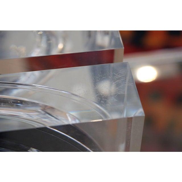 Plastic Felice Antonio Botta Lucite Lamp For Sale - Image 7 of 10