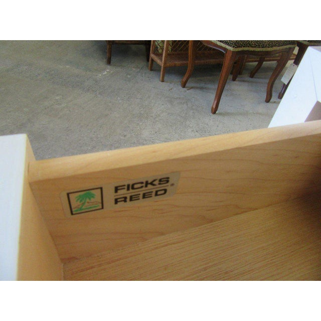 Ficks Reed Faux Bamboo Nightstand For Sale In West Palm - Image 6 of 8
