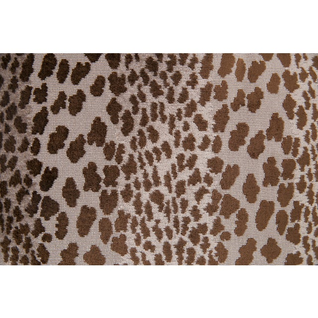 Chocolate Velvet Cheetah Pillows - A Pair - Image 4 of 5