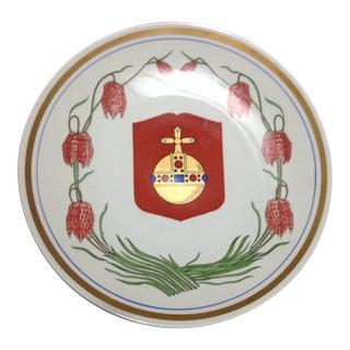 Upsala Ekeby Sweden Wall Plate For Sale