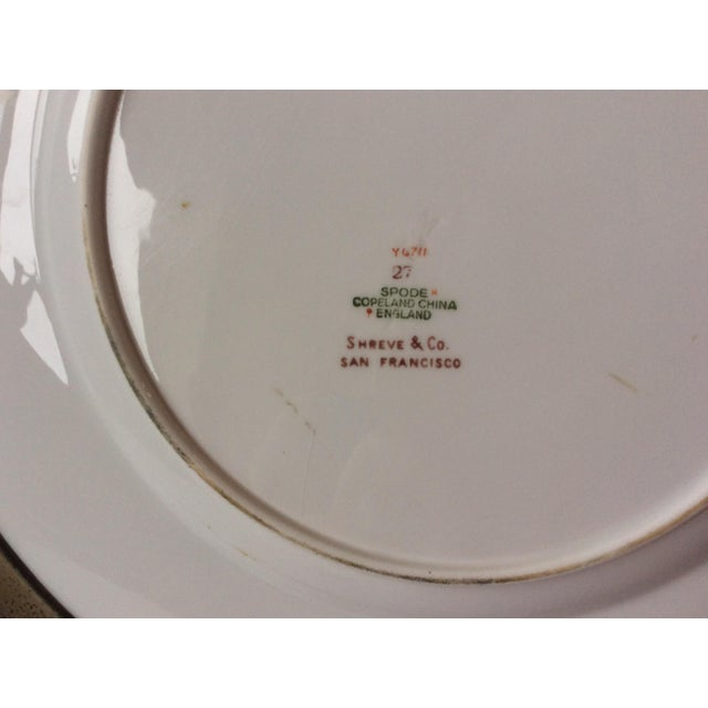Spode Floral Plate With Shreve Sterling Silver Rim For Sale In San Antonio - Image 6 of 6