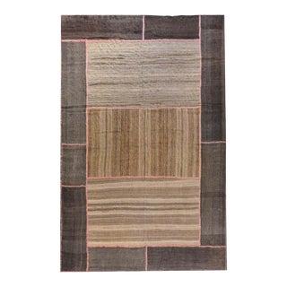 Large Patchwork Shahsevan Kilim Rug For Sale