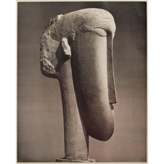 Amedeo Modigliani, First English Edition Photogravure of Stone Head Sculpture Preview