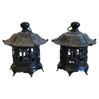 1950s Chinoiserie Garden or House Lanterns - Pair