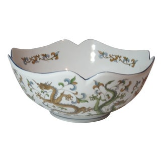 Scalloped Edge Dragon Bowl For Sale