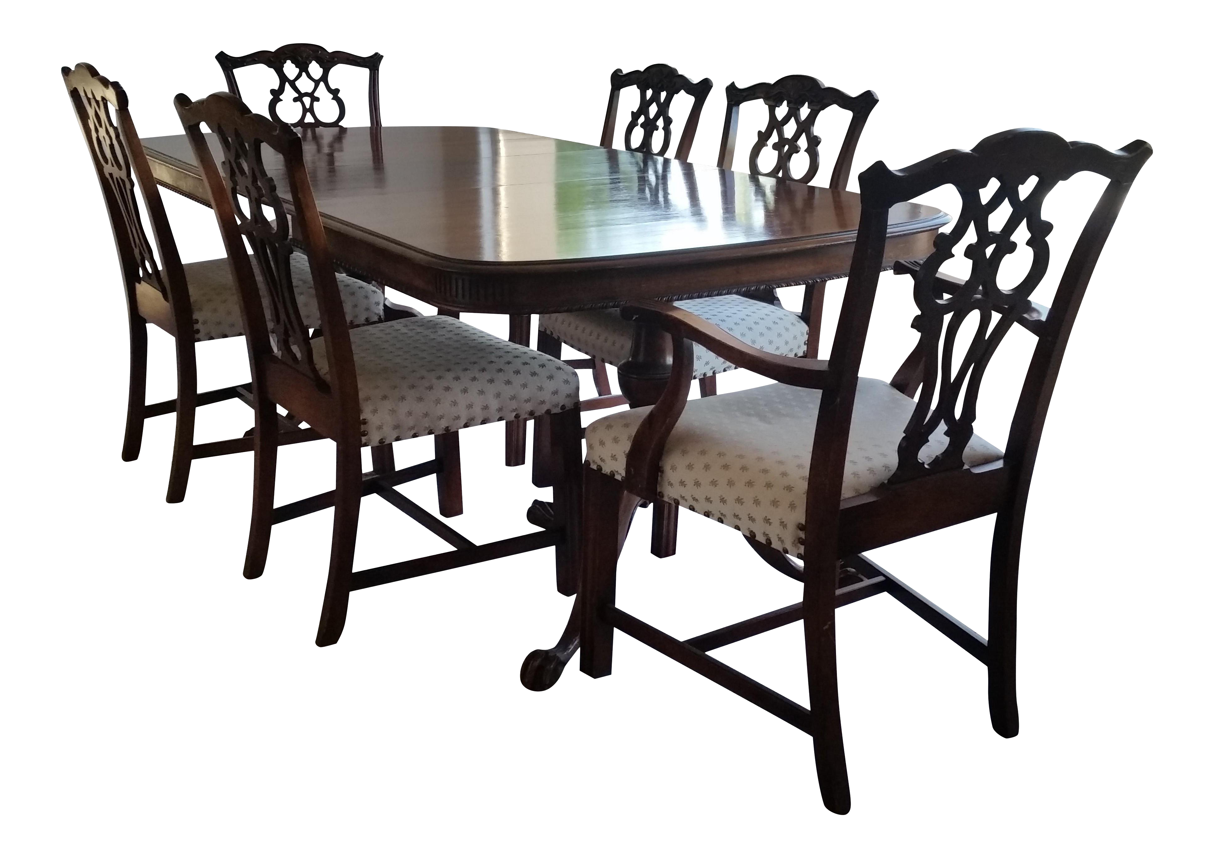 Antique Bernhardt Dining Set For Sale