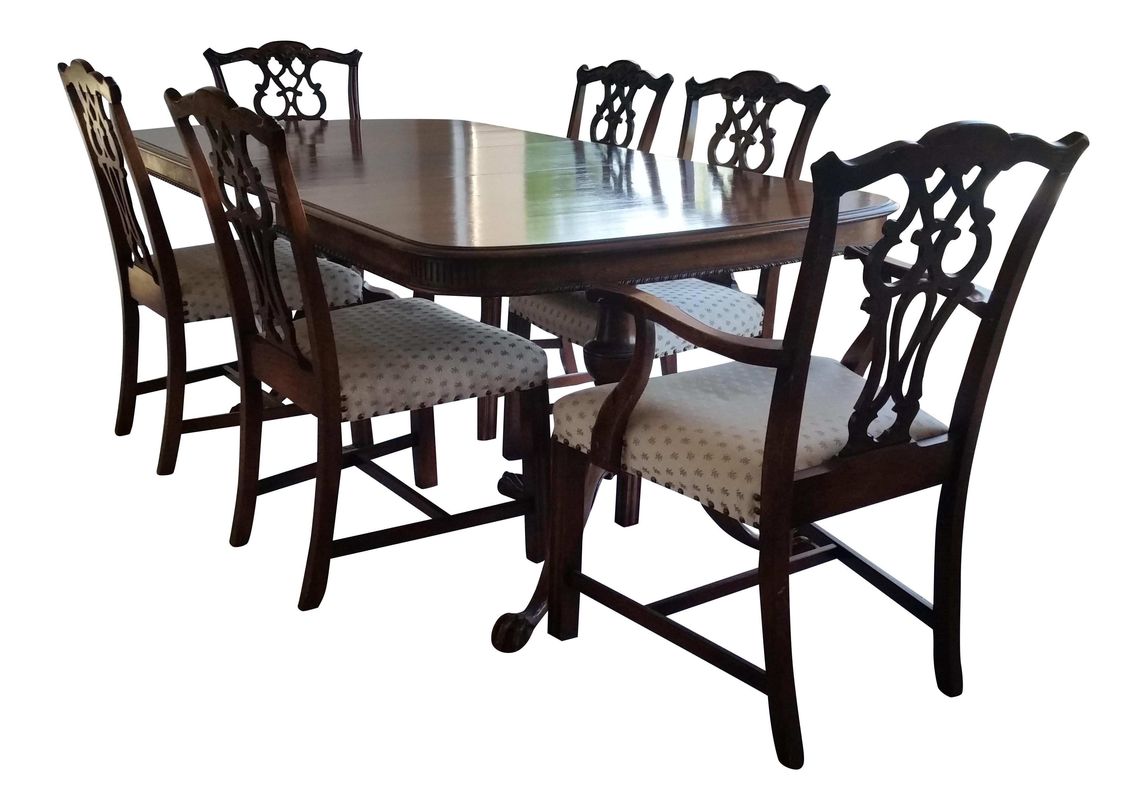 Antique Bernhardt Dining Set   Image 1 Of 9