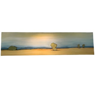 "Abstract Oil on Canvas - Desert Landscape, ""New Mexico Ii"" For Sale"