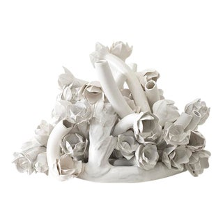 White Ceramic Flora Sculpture by Anat Shiftan