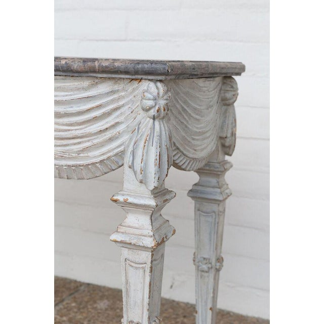 Neoclassical 18th Century Carved and Painted Console For Sale - Image 3 of 10