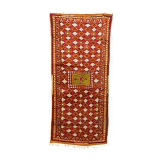 "Taznakht Vintage Moroccan Rug, 4'8"" X 9'8"" Feet"