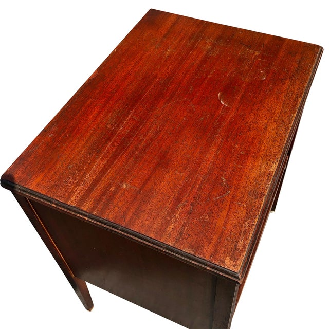 Antique Traditional Mahogany Carved Vinyl Record Cabinet Holder For Sale - Image 11 of 12