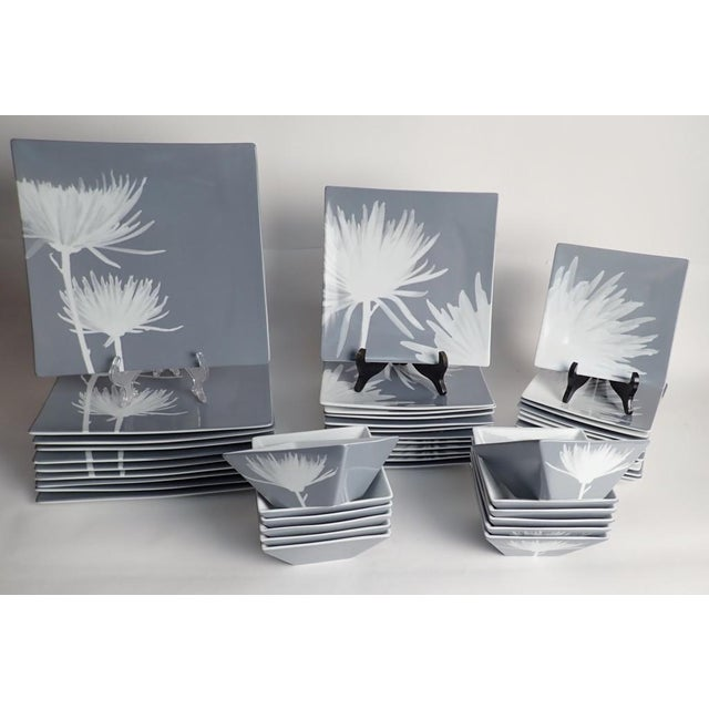 CB2 Modern Dinnerware Featuring Mums - 40 Piece Set For Sale - Image 11 of 11