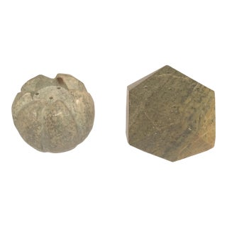 Marble Incense Holders - A Pair