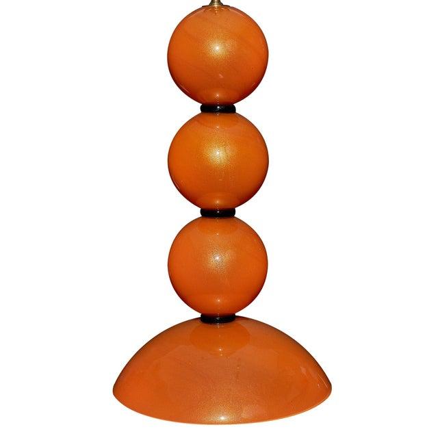 Alberto Donà Orange Murano Glass Lamps For Sale - Image 4 of 10