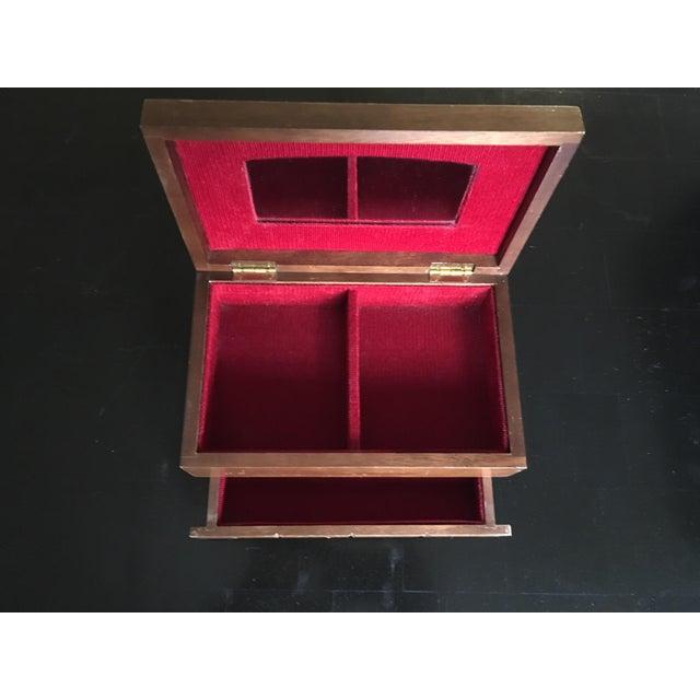 Japanese Mid-Century Chocolate Bar Jewelry Box - Image 3 of 4