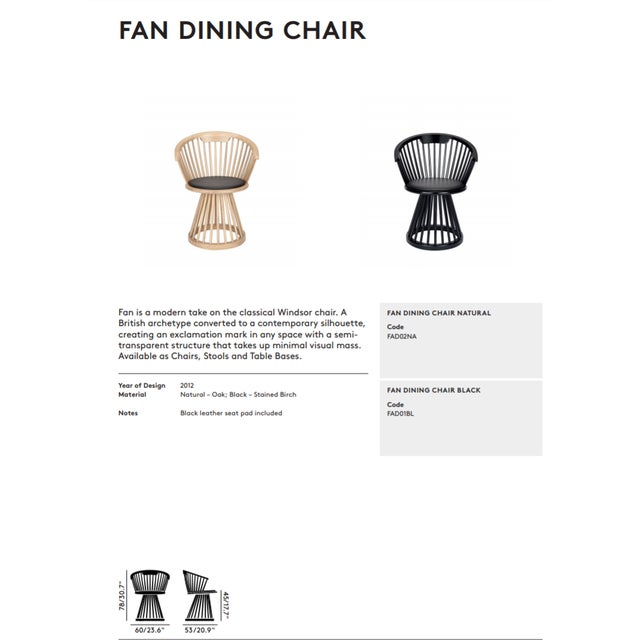Mid-Century Modern Tom Dixon Fan Dining Chair Natural For Sale - Image 3 of 5