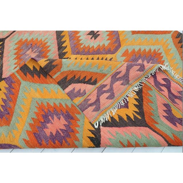 Vintage Turkish Barak Nomad's Flat Weave Rug For Sale - Image 4 of 12