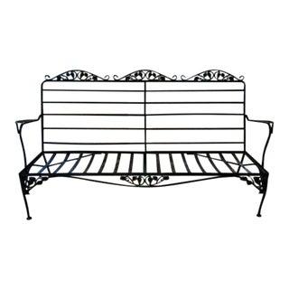 Mid Century Salterini Style Wrought Iron Metal Sofa Frame For Sale