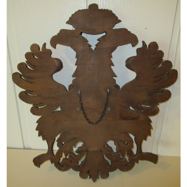 Carved Wood Coat of Arms For Sale In Philadelphia - Image 6 of 6