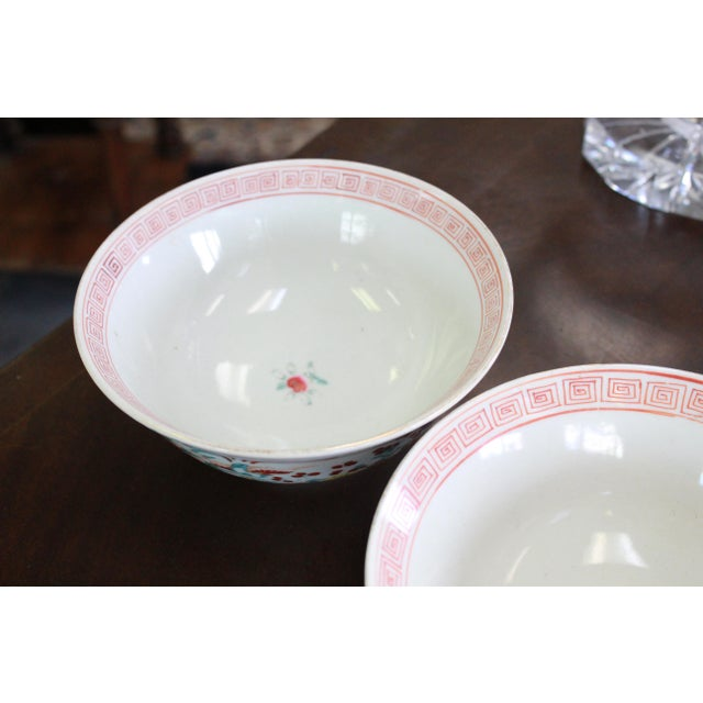 Asian 19th Century Vintage Rice Bowls - a Pair For Sale - Image 3 of 8