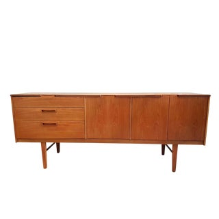 Nathan Stamped English Clear Teak Sideboard, Buffet, Mid Century Modern, 1960s For Sale