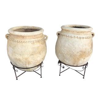 "Lg Saharian Jardinieres/Pots Pair 35""h For Sale"
