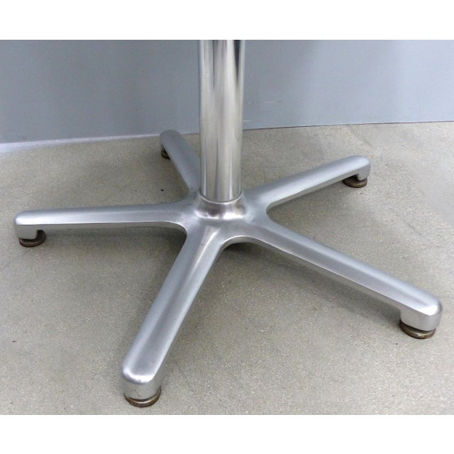 Aluminum Bistro Table by Jorge Pensi for Amat, Spain for Knoll For Sale In Miami - Image 6 of 9