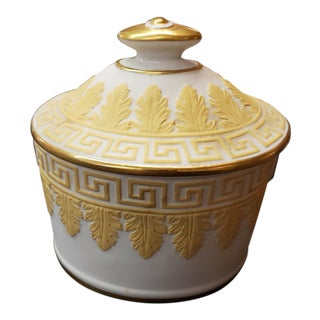 Italian Pottery Covered Greek Key Mottahedeh Design Jar For Sale