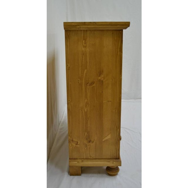 Antique Pine Bookcase With Drawer For Sale - Image 4 of 7