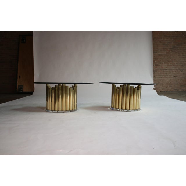 Gold Brass and Lucite Cocktail or End Tables For Sale - Image 8 of 9