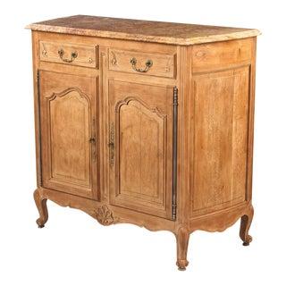 Louis XV Style Marble-Top Natural Oak Buffet, Circa 1920s