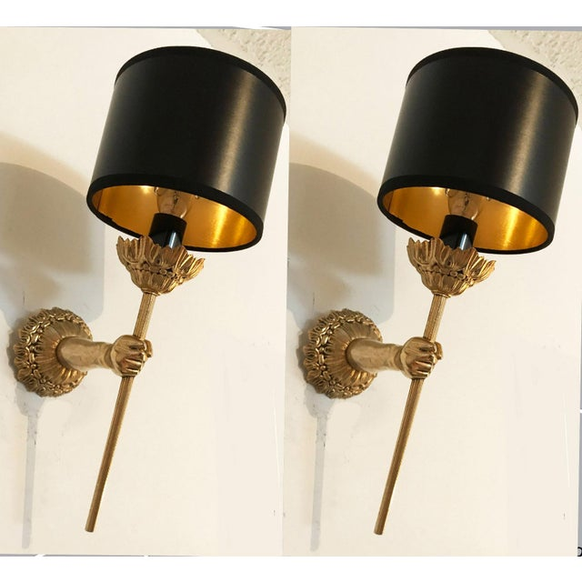 Vintage French Lancel Sconces - a Pair For Sale In Miami - Image 6 of 6