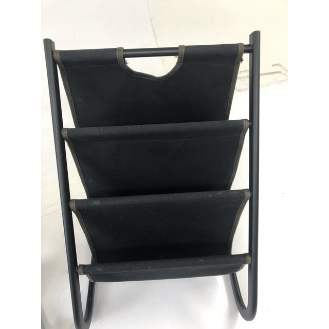 Vintage Mid Century Modern Sling Style Magazine Racks - a Pair For Sale - Image 9 of 11