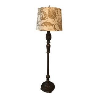 Acanthus Style Floor Lamp With Jamie Young Shade
