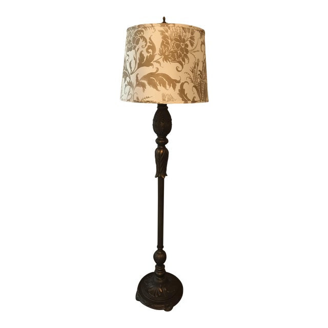 Acanthus style floor lamp with jamie young shade chairish acanthus style floor lamp with jamie young shade aloadofball Image collections