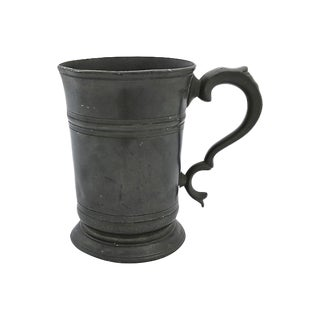 Antique English Pewter Pint Ale Tankard For Sale