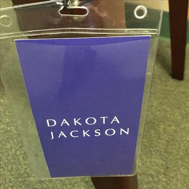 Dakota Jackson White Leather Marina Odile Chair - Image 4 of 10