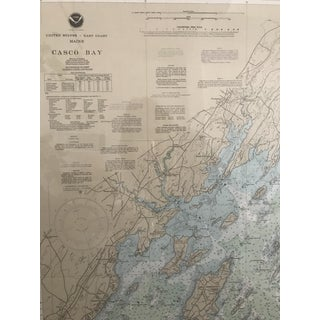 Vintage Casco Bay Maine Framed Map Preview