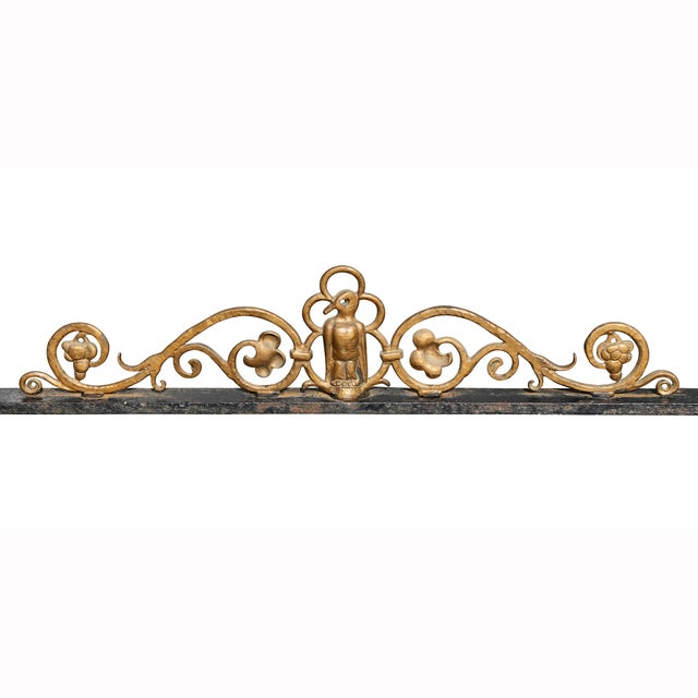 1930s Oscar Bach Bronze and Wrought Iron Console Table For Sale - Image 5 of 10