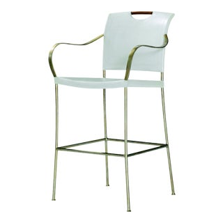Century Furniture Canvas Bar Stool, Ivory For Sale