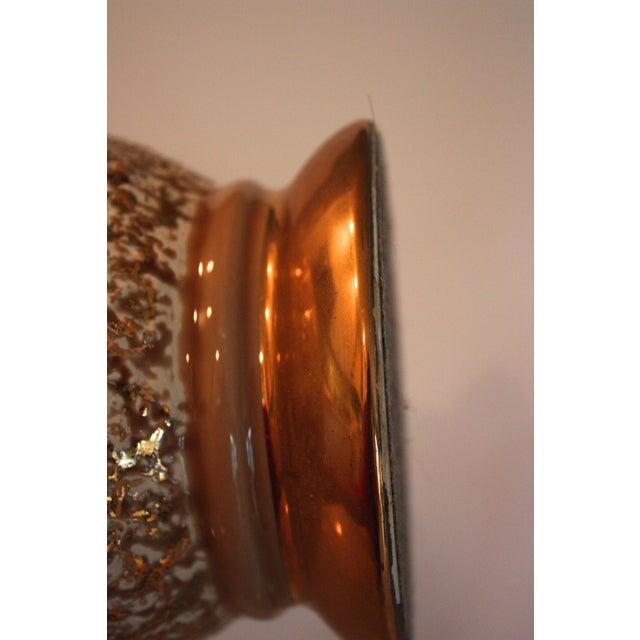 Mid-Century Tan & Gold Boudoir Lamps - A Pair - Image 4 of 4