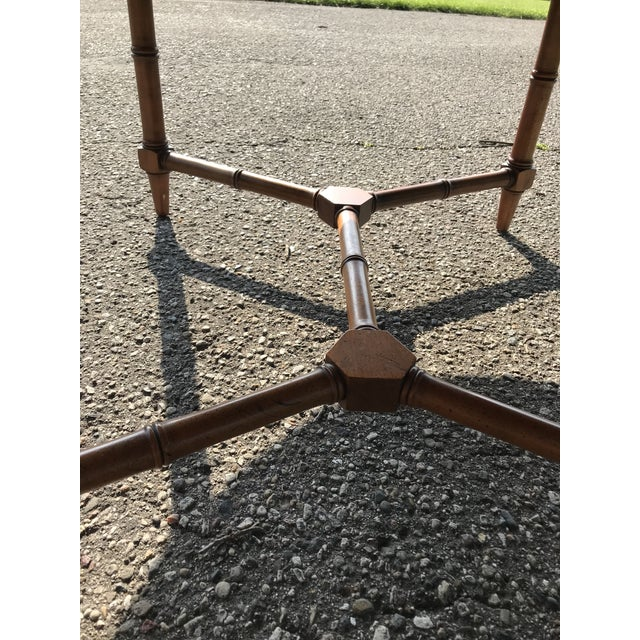 Oval Walnut Coffee Table For Sale - Image 6 of 9