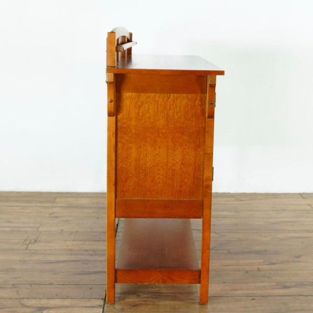 2010s Mission Style Basset Oak Sideboard For Sale - Image 5 of 8