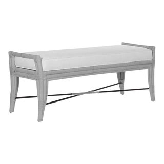 Malacca Bench - Light Gray For Sale