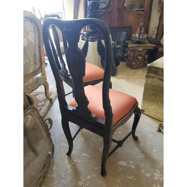 Pair of Chinoiserie Chairs For Sale - Image 9 of 12