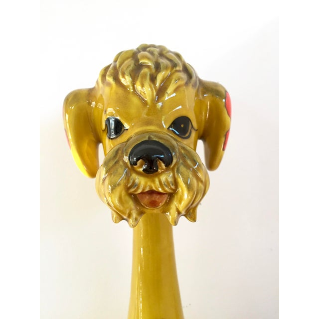 Mid-Century Yellow Poodle Figurine For Sale - Image 4 of 8
