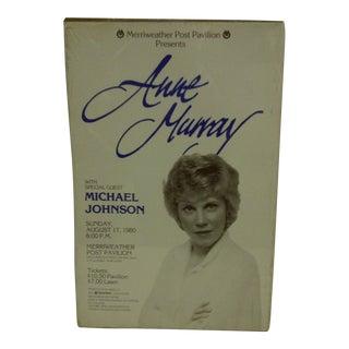"Vintage 1980 ""Ann Murray"" Concert Poster For Sale"